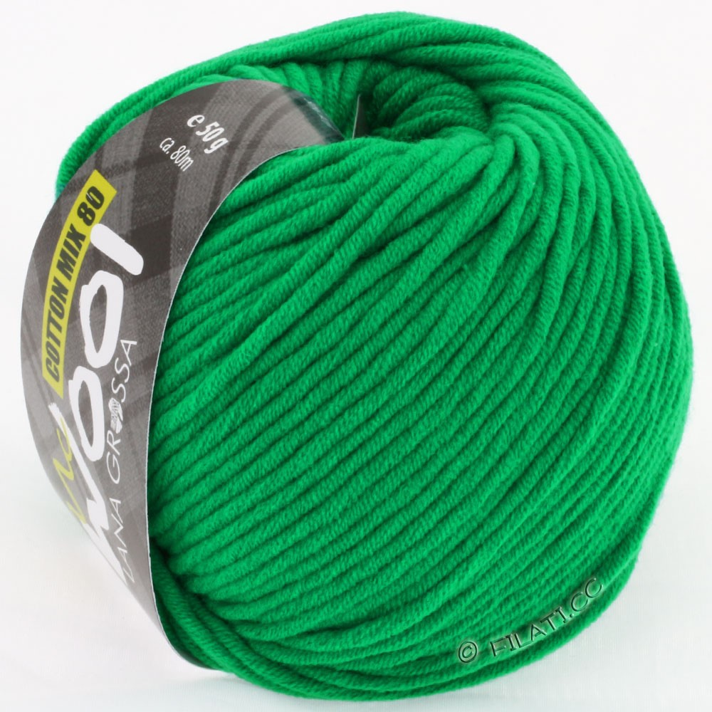 Lana Grossa COTTON MIX 80 (McWool) | 510-green