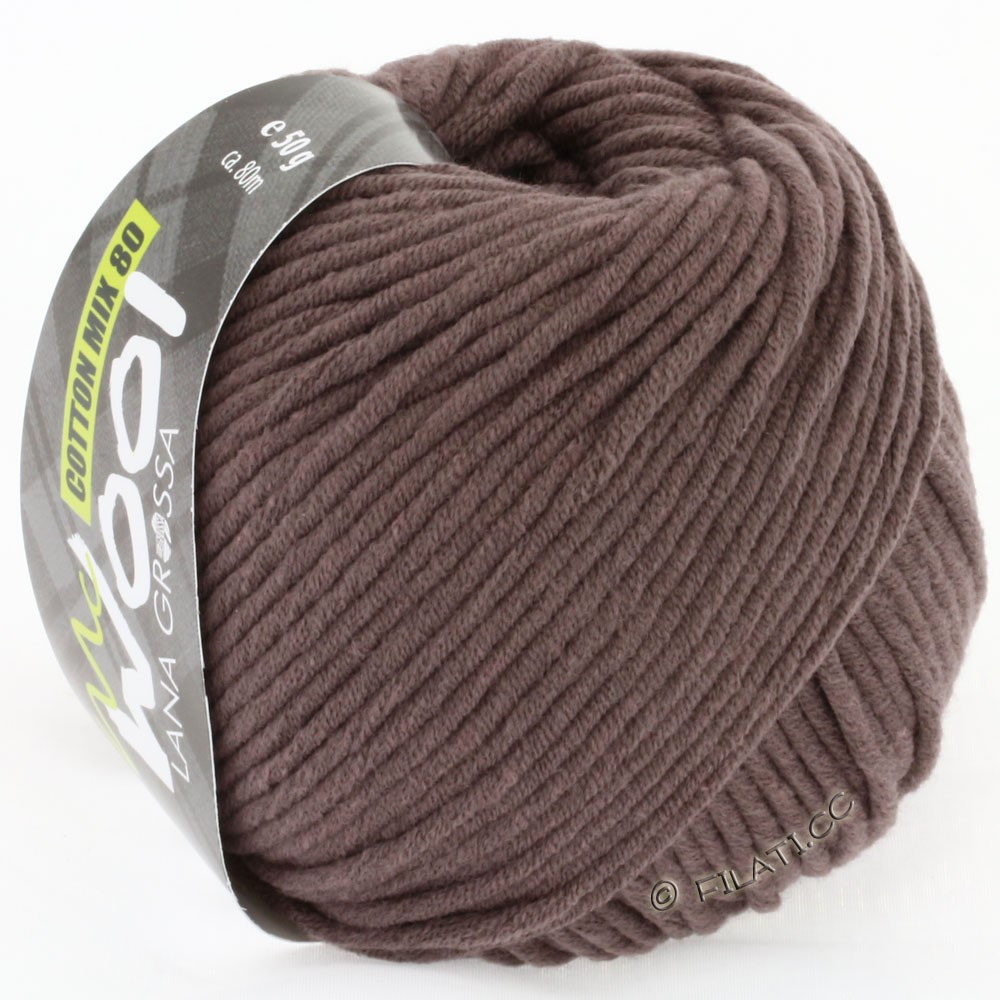 Lana Grossa COTTON MIX 80 (McWool) | 514-gray brown