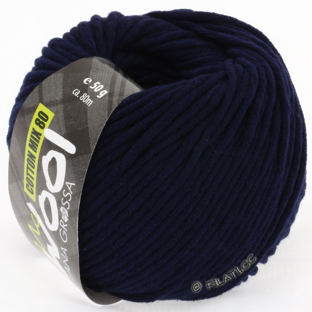 Lana Grossa COTTON MIX 80 (McWool) | 517-night blue