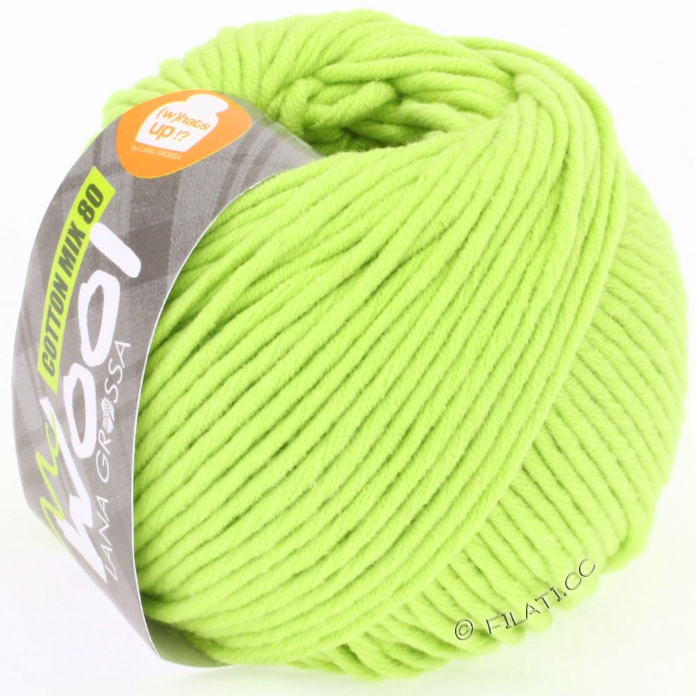Lana Grossa COTTON MIX 80 (McWool) | 519-yellow green