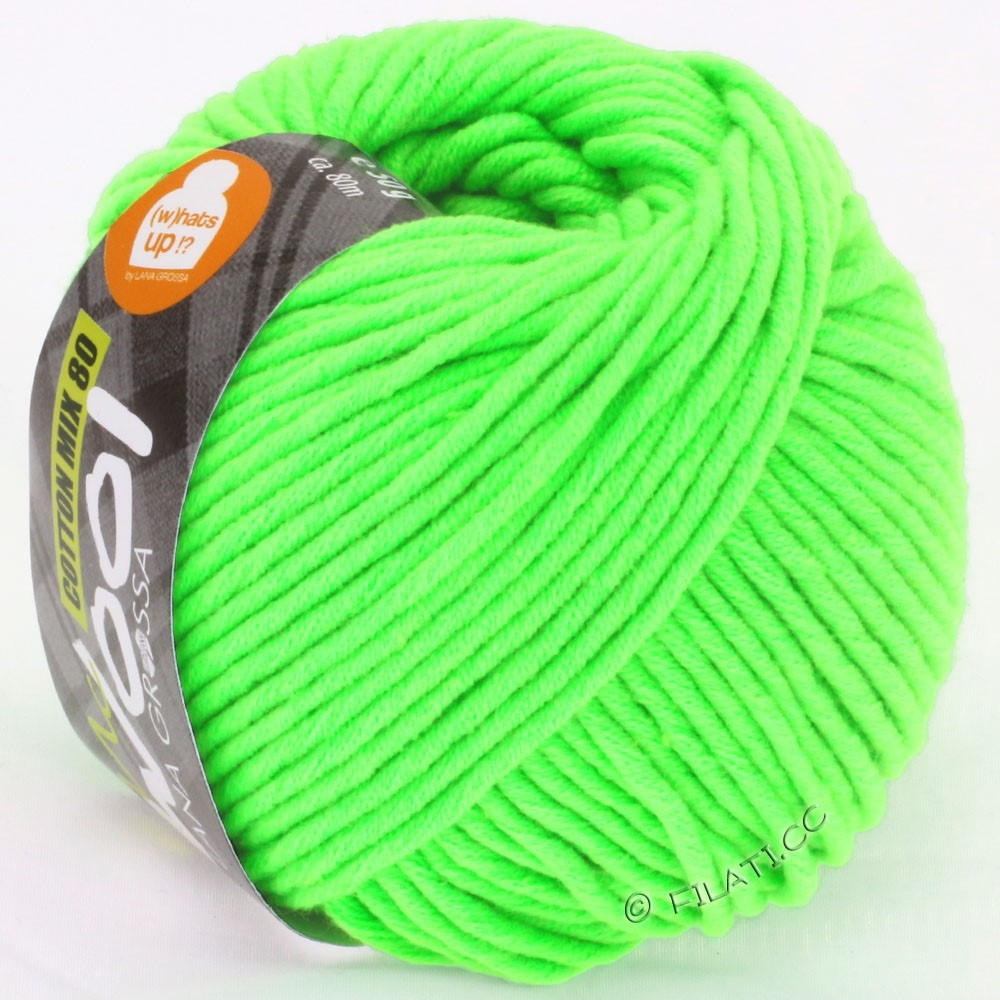 Lana Grossa COTTON MIX 80 (McWool) | 520-neon green