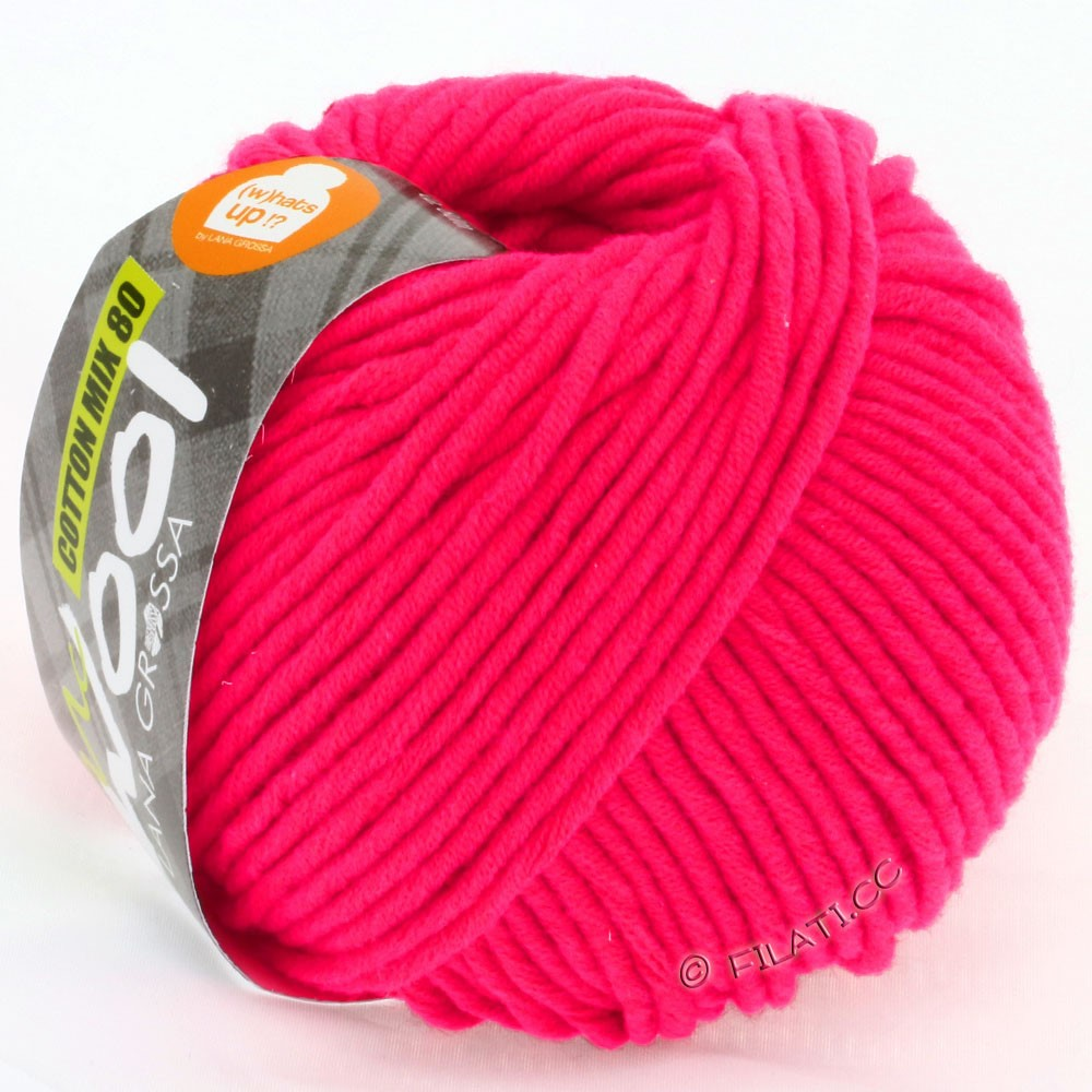 Lana Grossa COTTON MIX 80 (McWool) | 524-raspberry