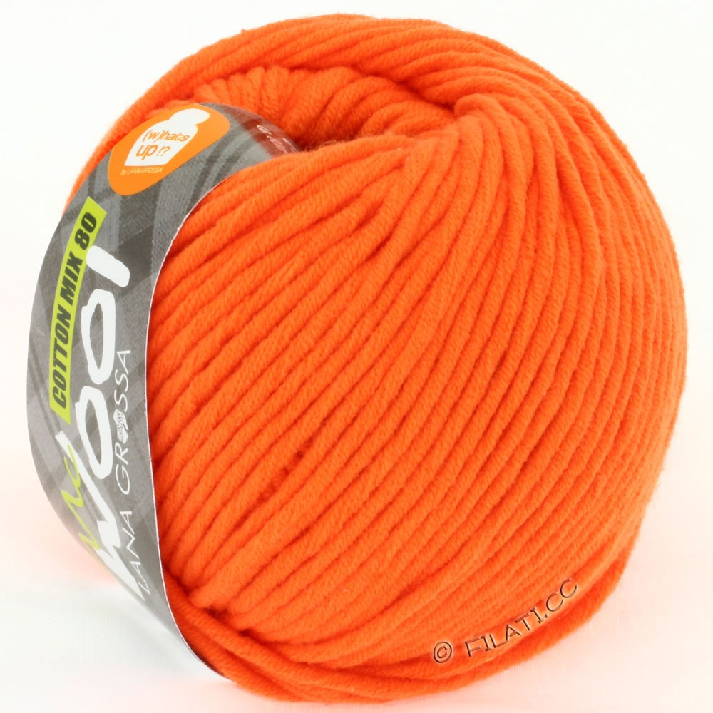 Lana Grossa COTTON MIX 80 (McWool) | 525-mandarin
