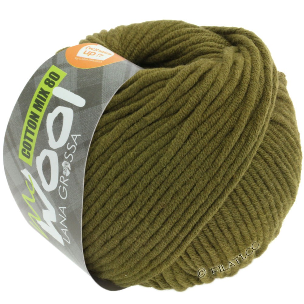 Lana Grossa COTTON MIX 80 (McWool) | 528-olive