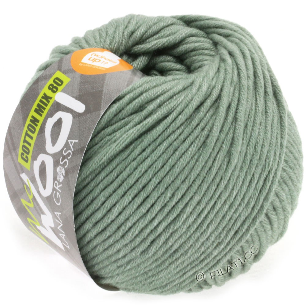 Lana Grossa COTTON MIX 80 (McWool) | 529-gray green