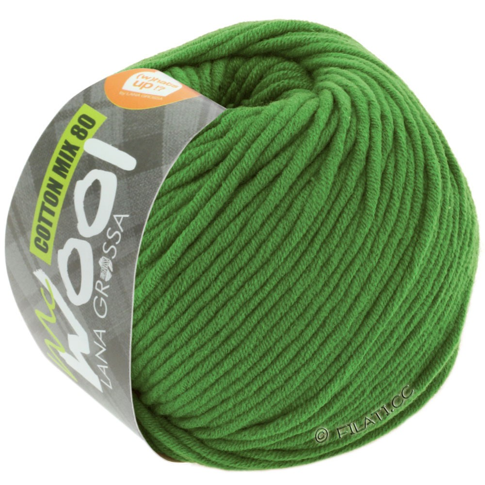 Lana Grossa COTTON MIX 80 (McWool) | 535-grass green