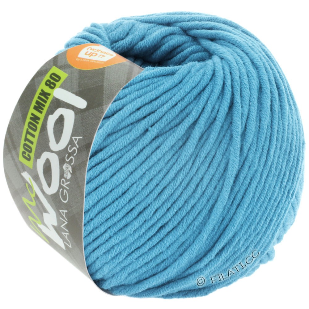 Lana Grossa COTTON MIX 80 (McWool) | 537-sky blue