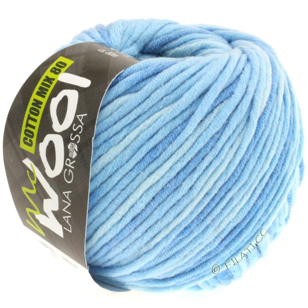 Lana Grossa COTTON MIX 80 Print (McWool) | 706-light blue/medium blue