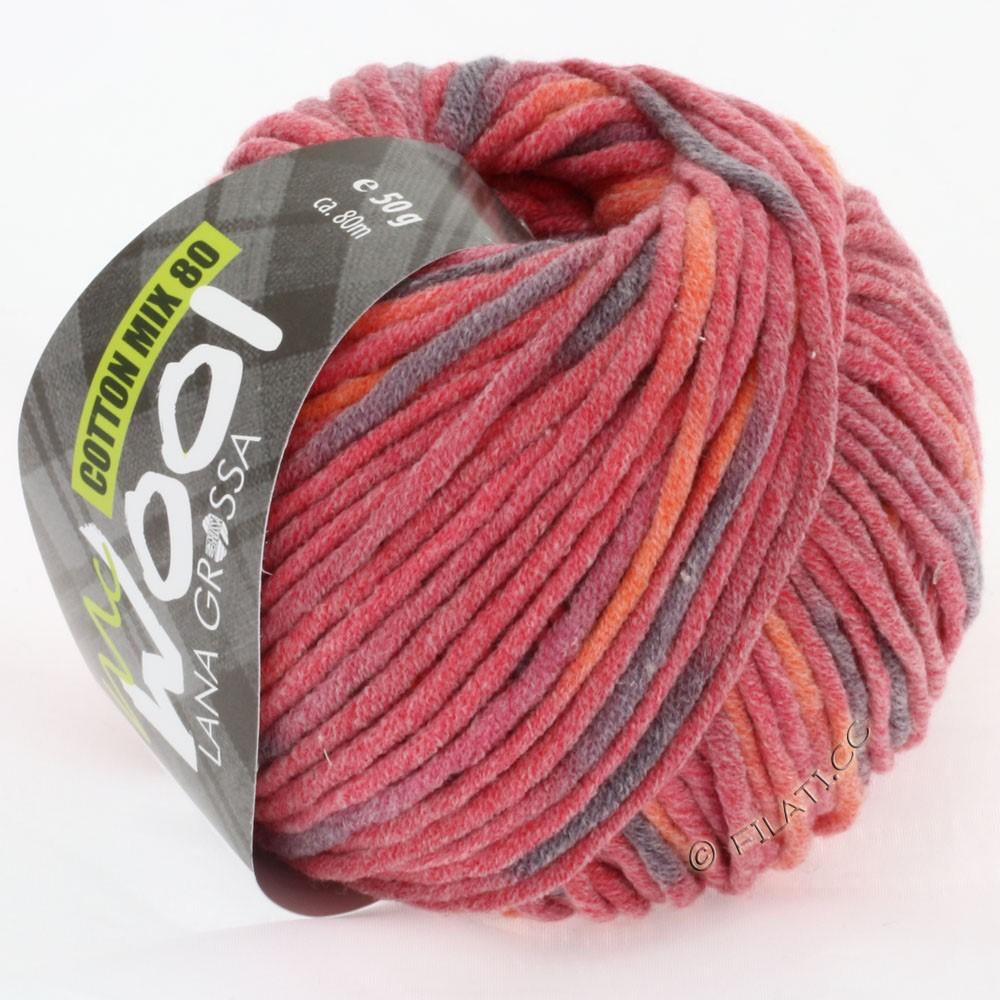 Lana Grossa COTTON MIX 80 Print (McWool) | 753-pink/orange/berry