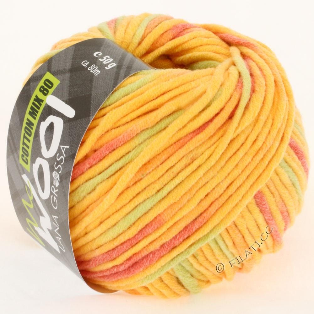 Lana Grossa COTTON MIX 80 Print (McWool) | 754-bright yellow/orange/subtle green