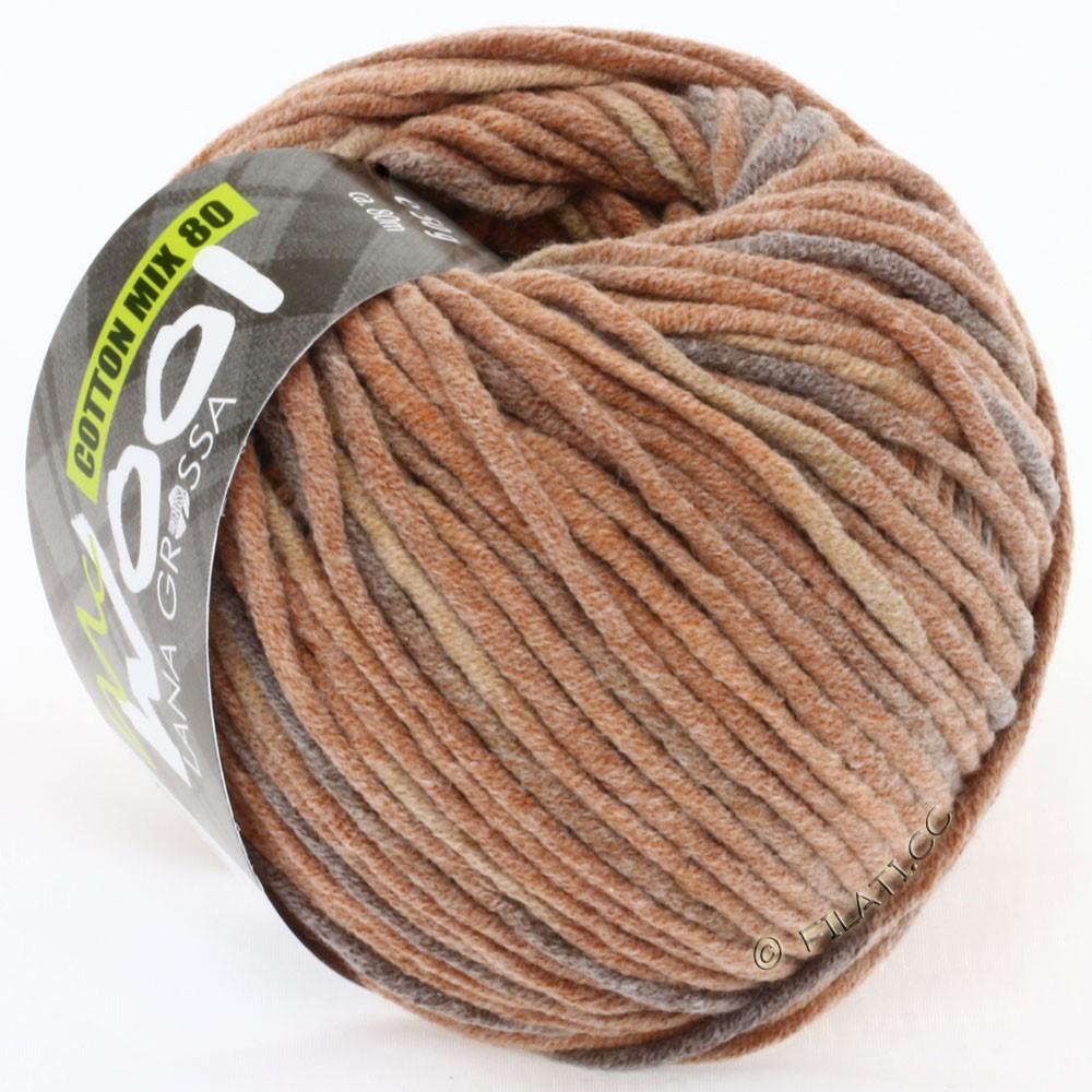 Lana Grossa COTTON MIX 80 Print (McWool) | 755-cinnamon/brown/dark brown