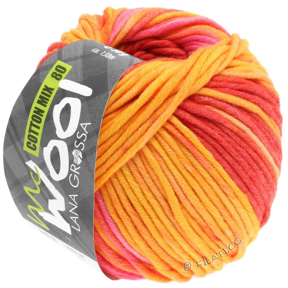 Lana Grossa COTTON MIX 80 Print (McWool) | 902-yellow/orange/pink/rose/apricot