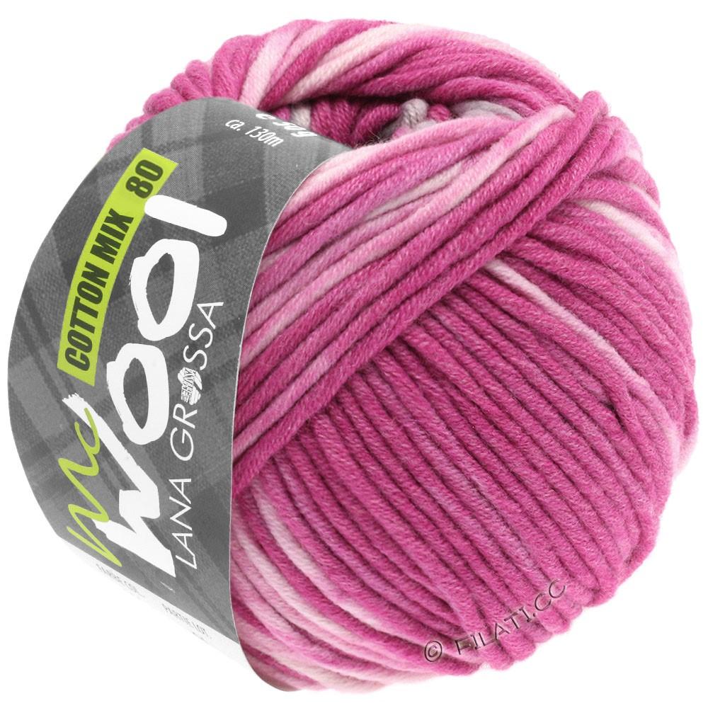 Lana Grossa COTTON MIX 80 Print (McWool) | 903-pink/rose/light gray/natural