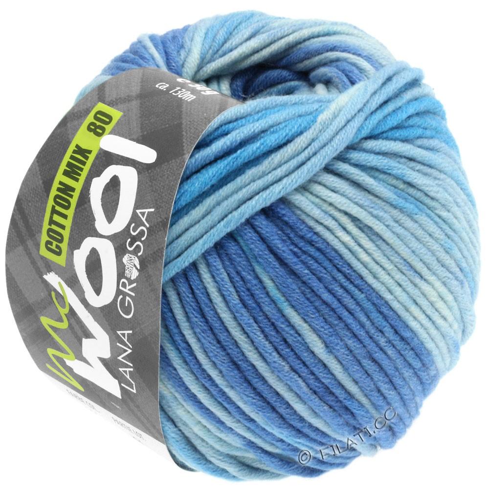 Lana Grossa COTTON MIX 80 Print (McWool) | 904-jeans/medium blue/light blue/subtle blue