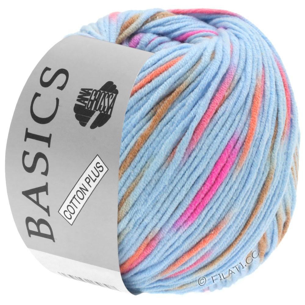 Lana Grossa COTTON PLUS   203-light blue/pink/orange/light brown