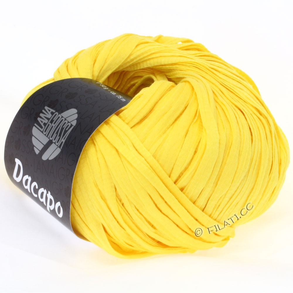 Lana Grossa DACAPO Uni | 017-yellow