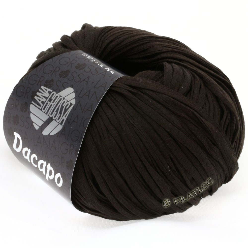 Lana Grossa DACAPO Uni | 022-black brown