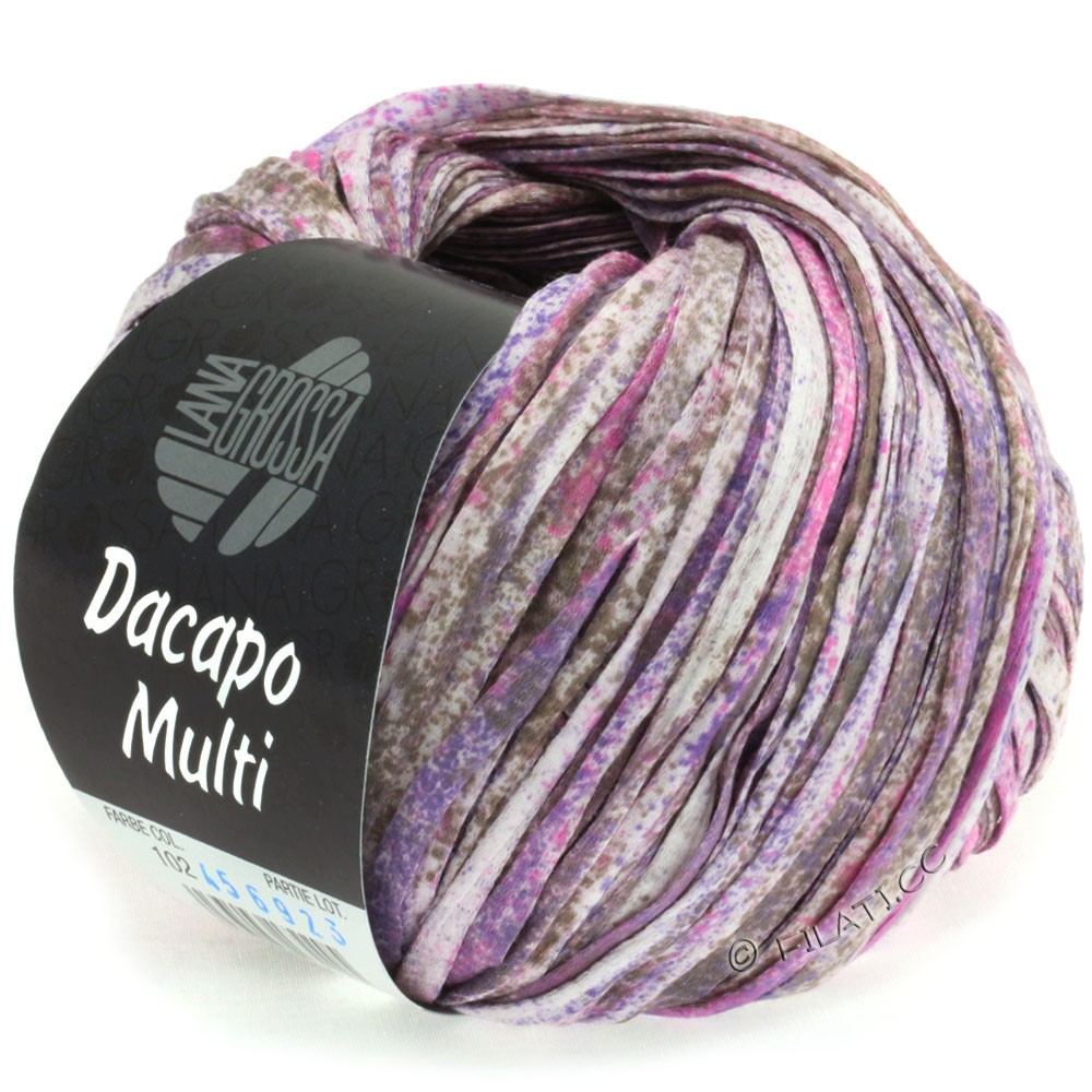 Lana Grossa DACAPO Multi | 102-lilac/pink/gray brown/nature