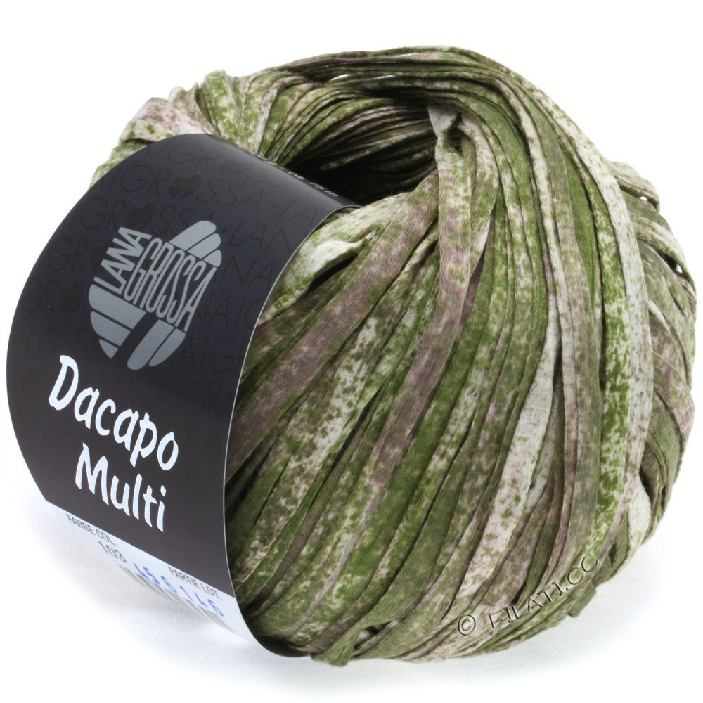 Lana Grossa DACAPO Multi | 103-dark olive/antique pink/nature