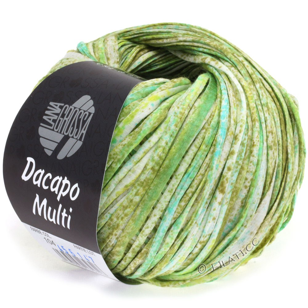 Lana Grossa DACAPO Multi | 104-olive/light green/turquoise/nature