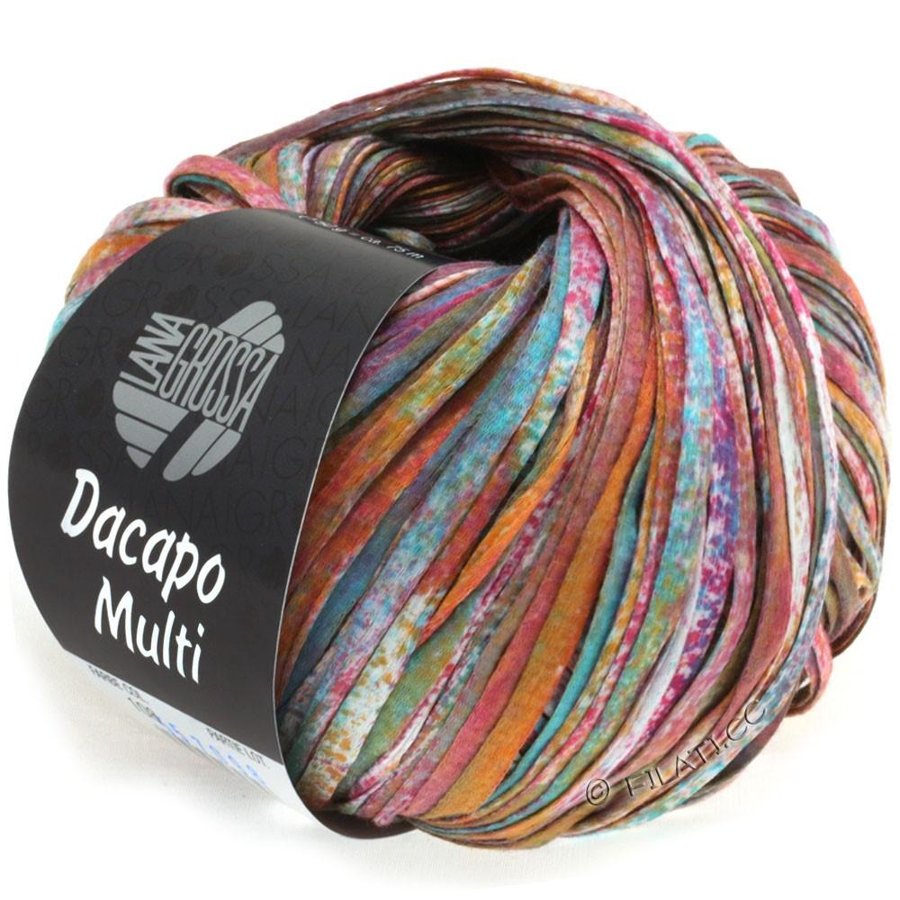 Lana Grossa DACAPO Multi | 108-mustard/turquoise/petrol/purple/wine red/natural