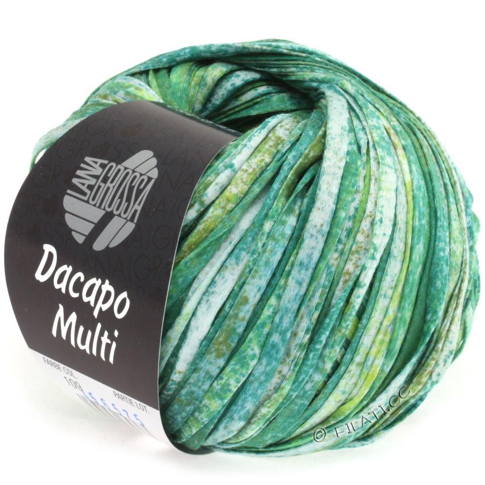Lana Grossa DACAPO Multi | 109-emerald/olive/petrol/natural