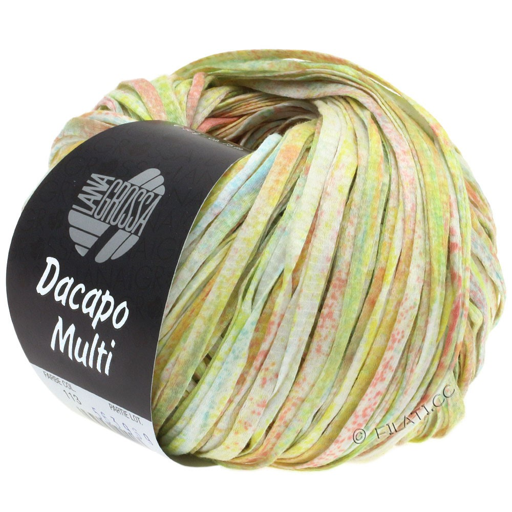 Lana Grossa DACAPO Multi | 113-rose/light yellow/light green/turquoise/white