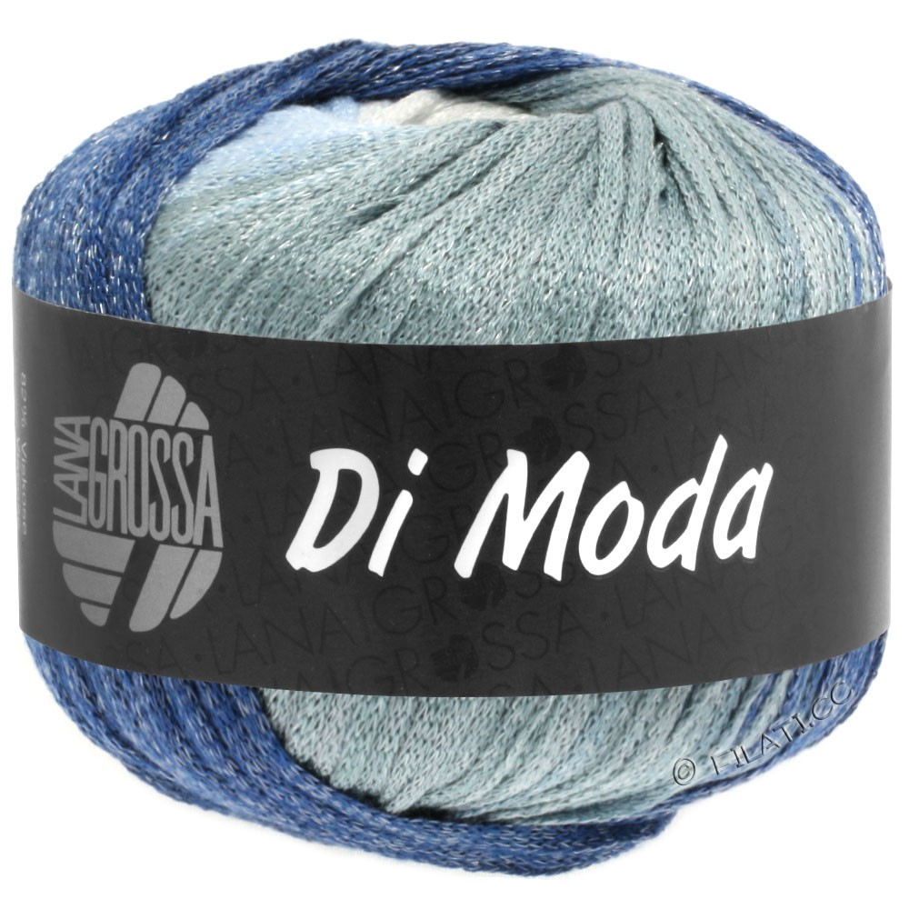 Lana Grossa DI MODA | 01-white/light gray/light blue/blue