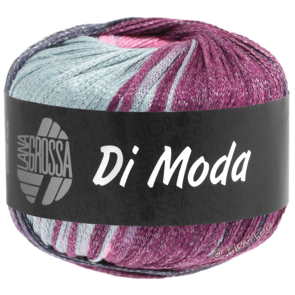 Lana Grossa DI MODA | 02-light gray/rose/plum/blue violet
