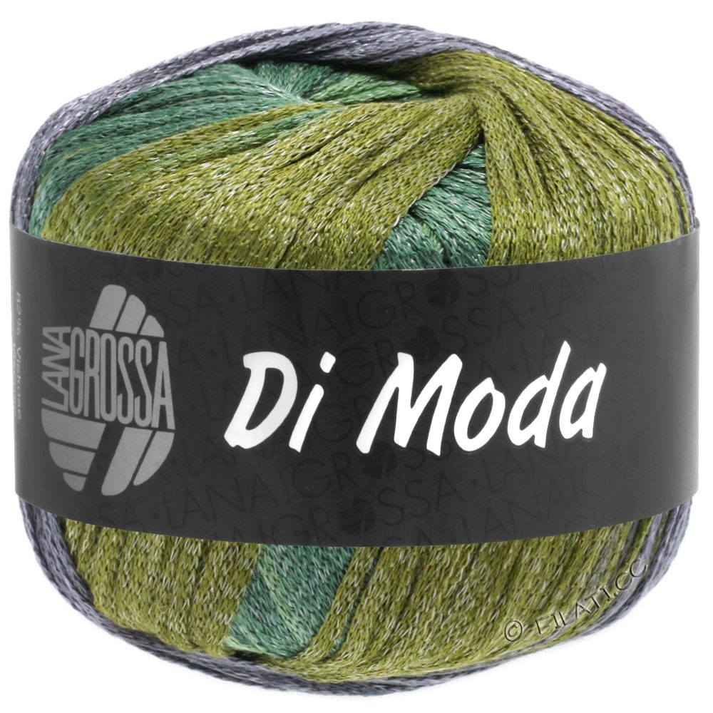 Lana Grossa DI MODA | 18-olive/antique violet/dark green/medium green