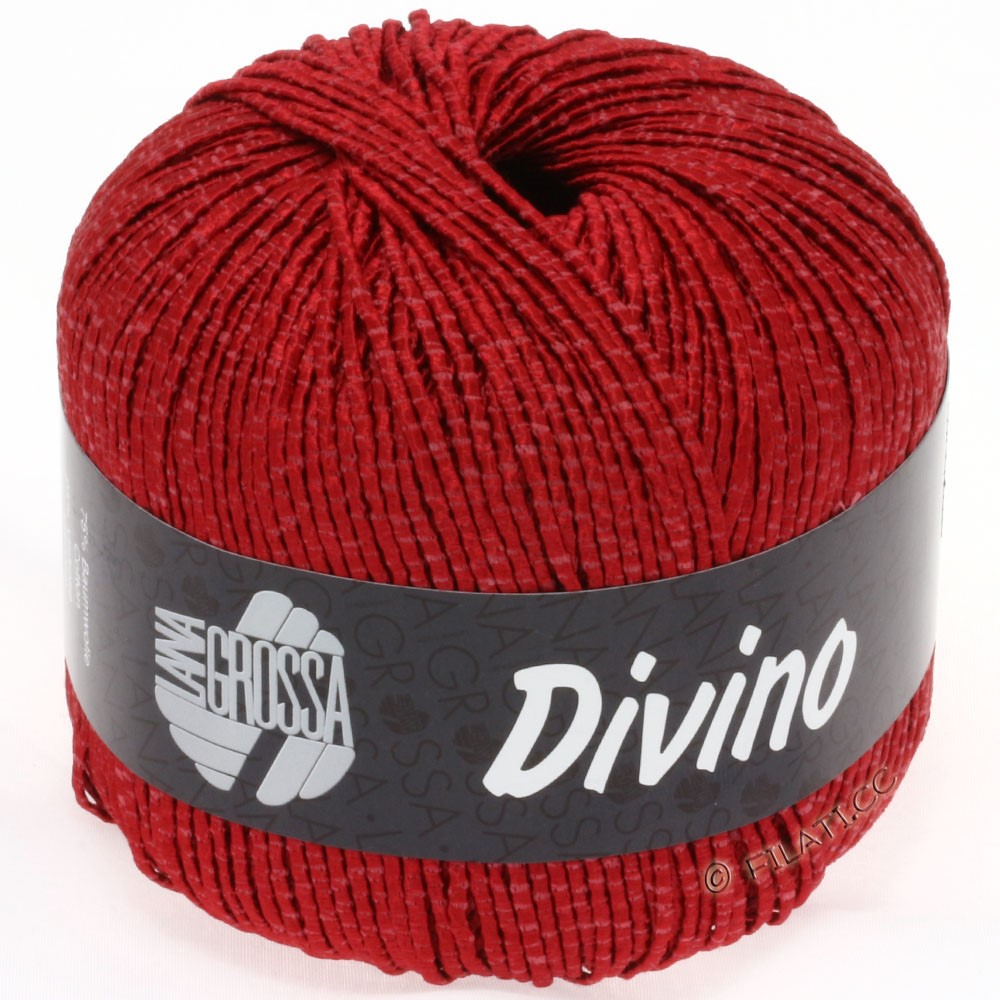 Lana Grossa DIVINO Uni | 09-dark red