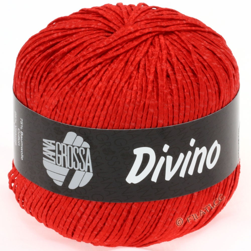 Lana Grossa DIVINO Uni | 26-poppy red