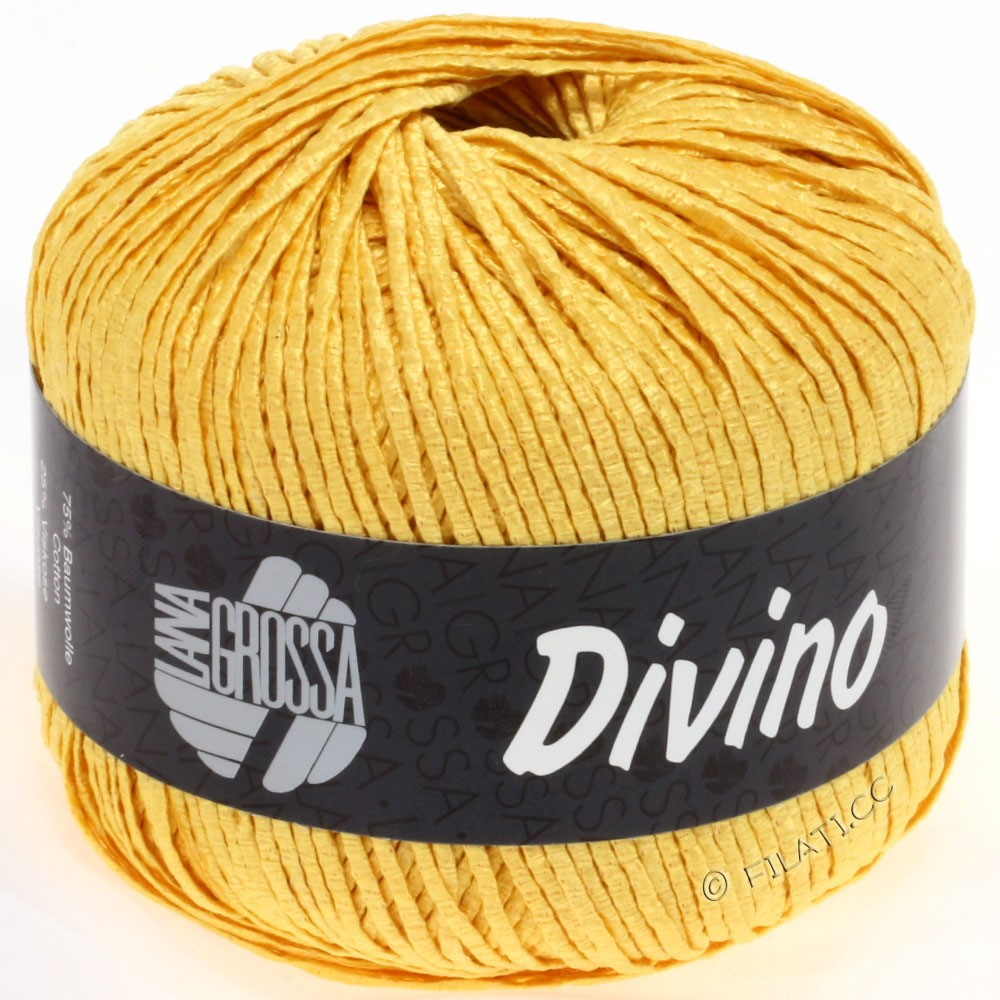 Lana Grossa DIVINO Uni | 49-golden yellow