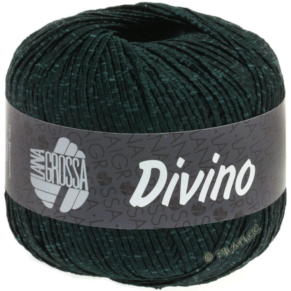Lana Grossa DIVINO Uni | 55-black green