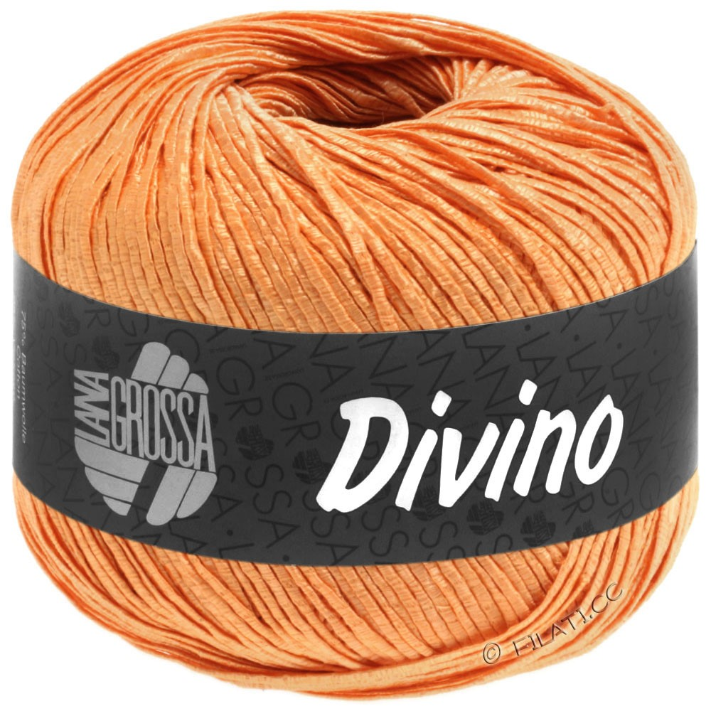 Lana Grossa DIVINO Uni | 58-orange yellow