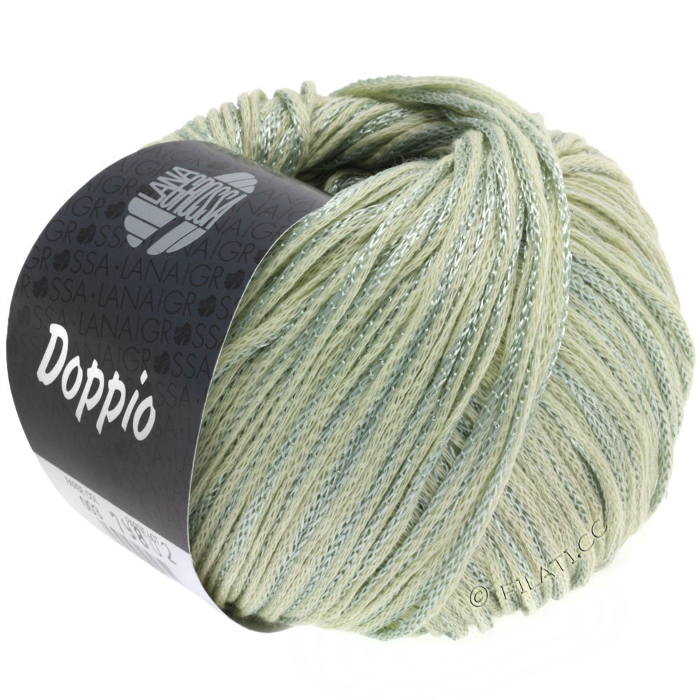 Lana Grossa DOPPIO/DOPPIO Unito | 003-natural/green gray