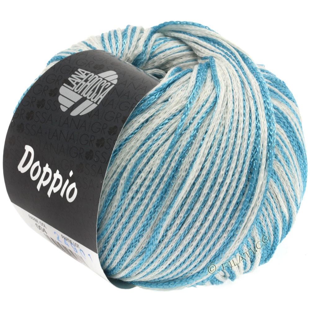 Lana Grossa DOPPIO/DOPPIO Unito | 004-turquoise/white