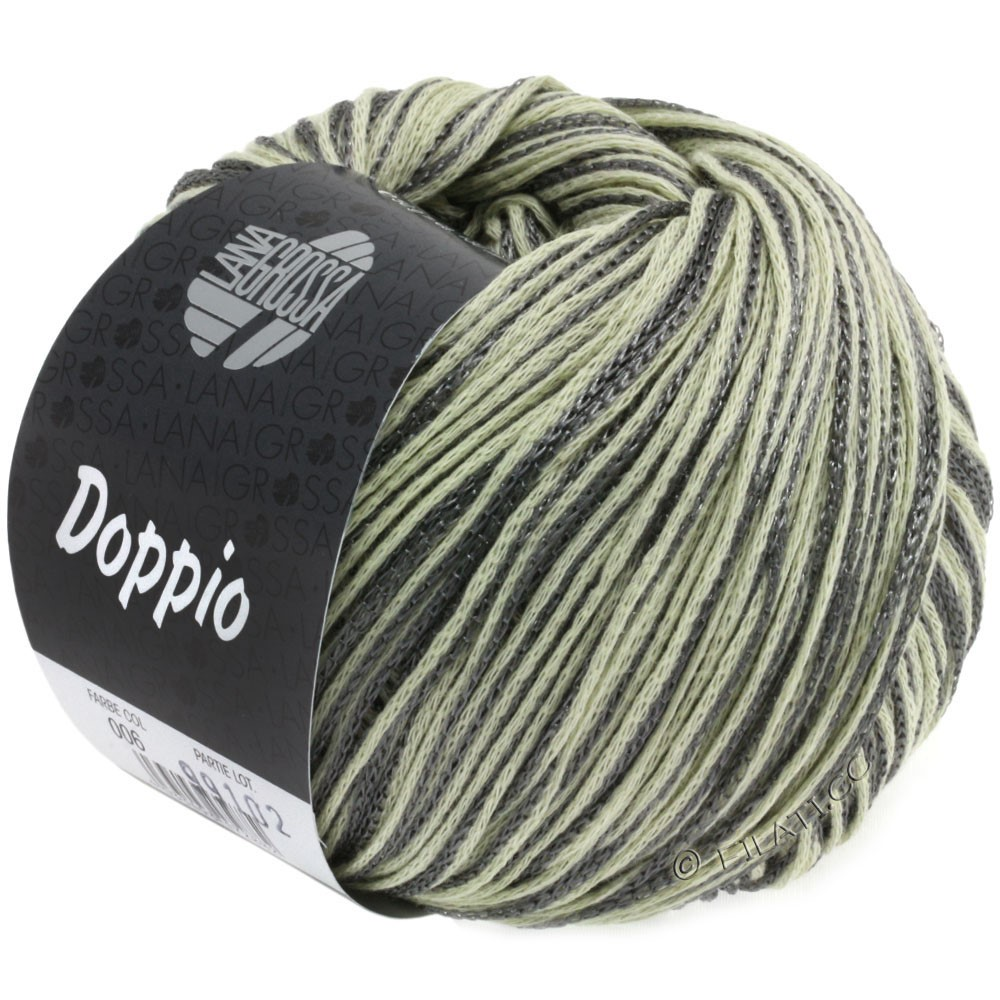 Lana Grossa DOPPIO/DOPPIO Unito | 006-natural/dark gray