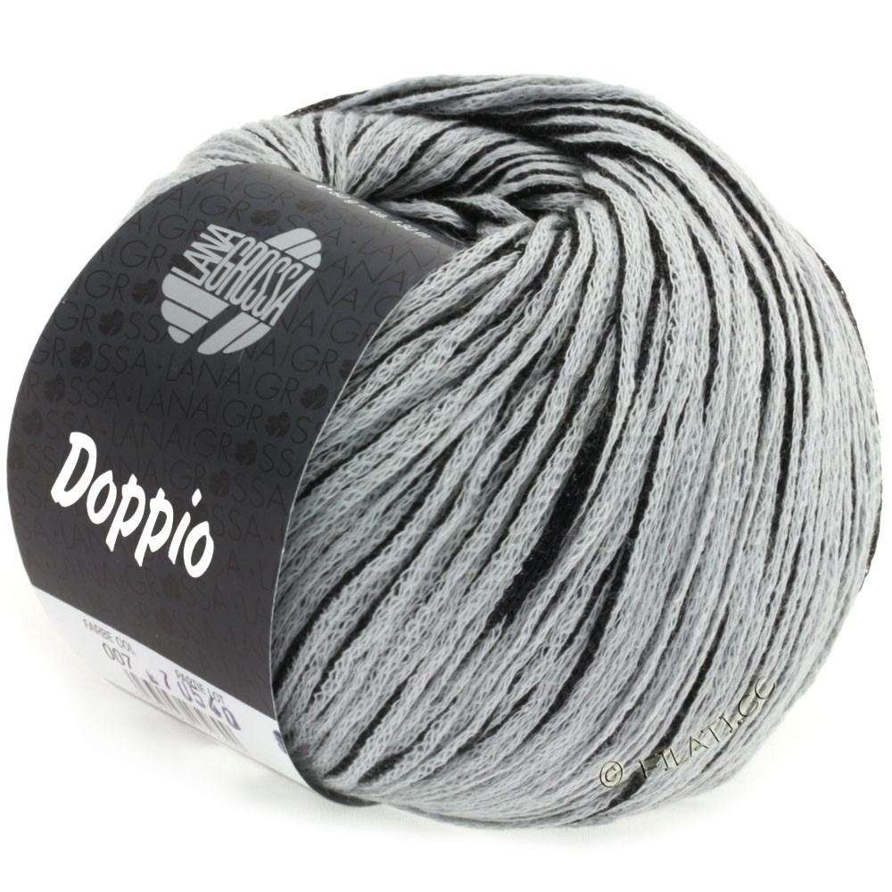 Lana Grossa DOPPIO/DOPPIO Unito | 007-black/light gray