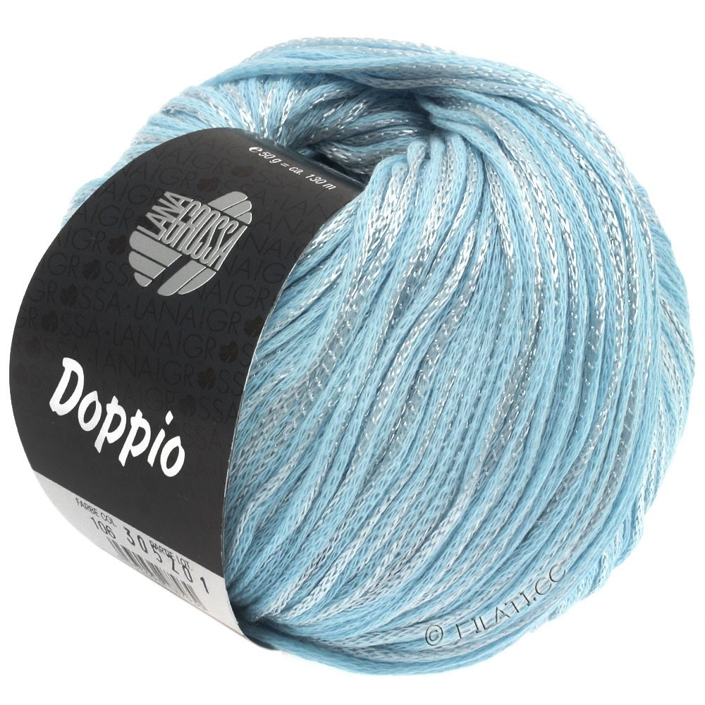 Lana Grossa DOPPIO/DOPPIO Unito | 106-light blue