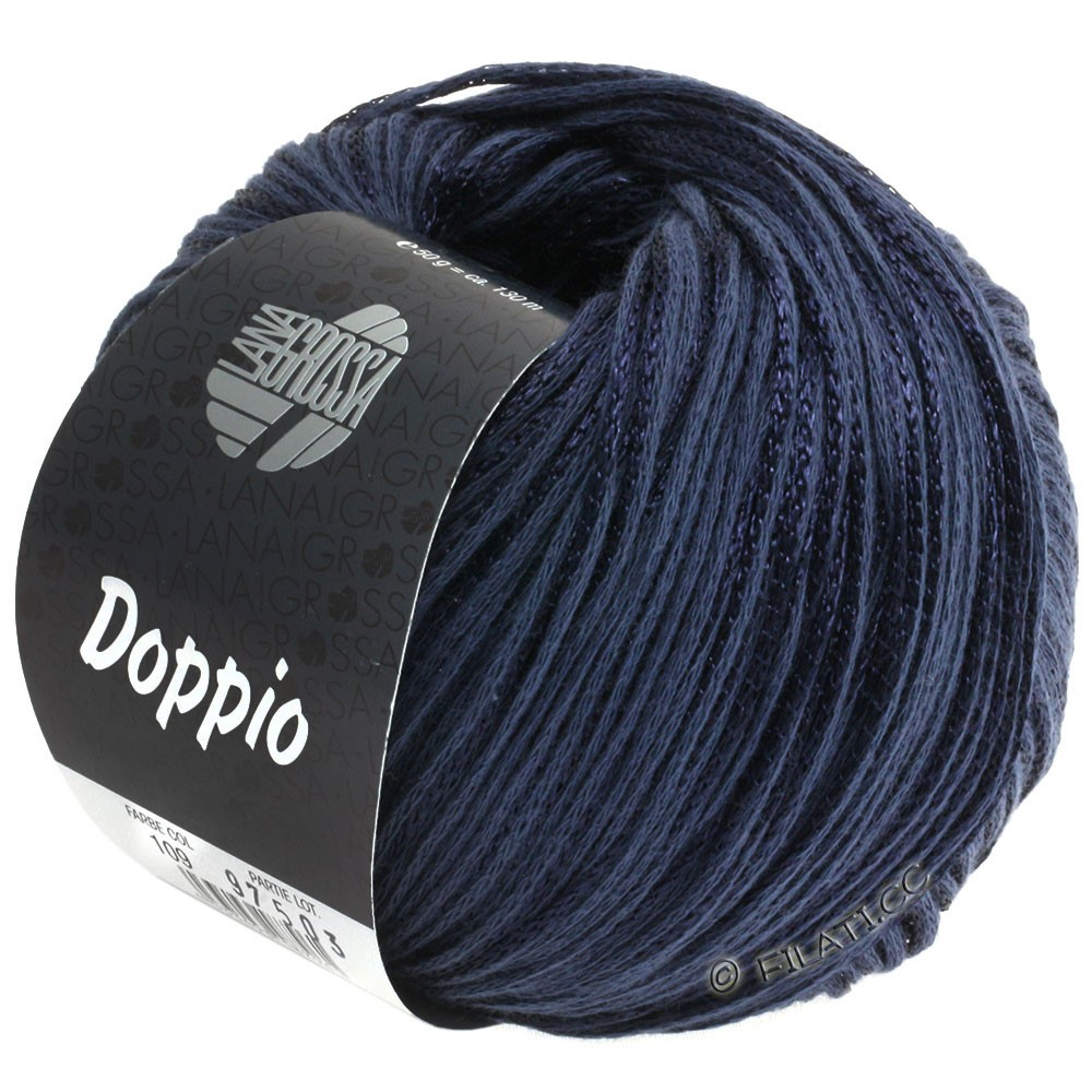 Lana Grossa DOPPIO/DOPPIO Unito | 109-dark blue