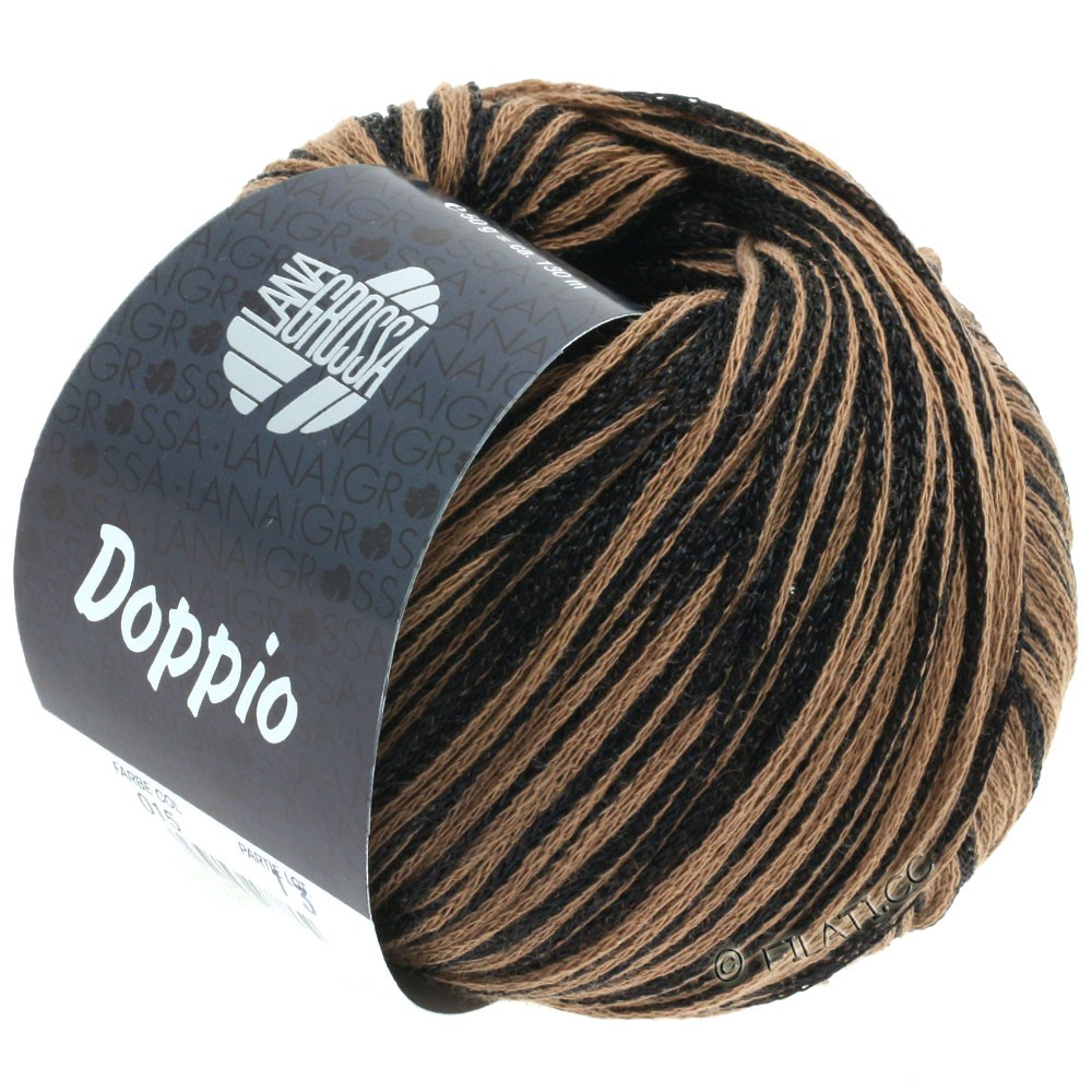 Lana Grossa DOPPIO/DOPPIO Unito | 015-black/brown