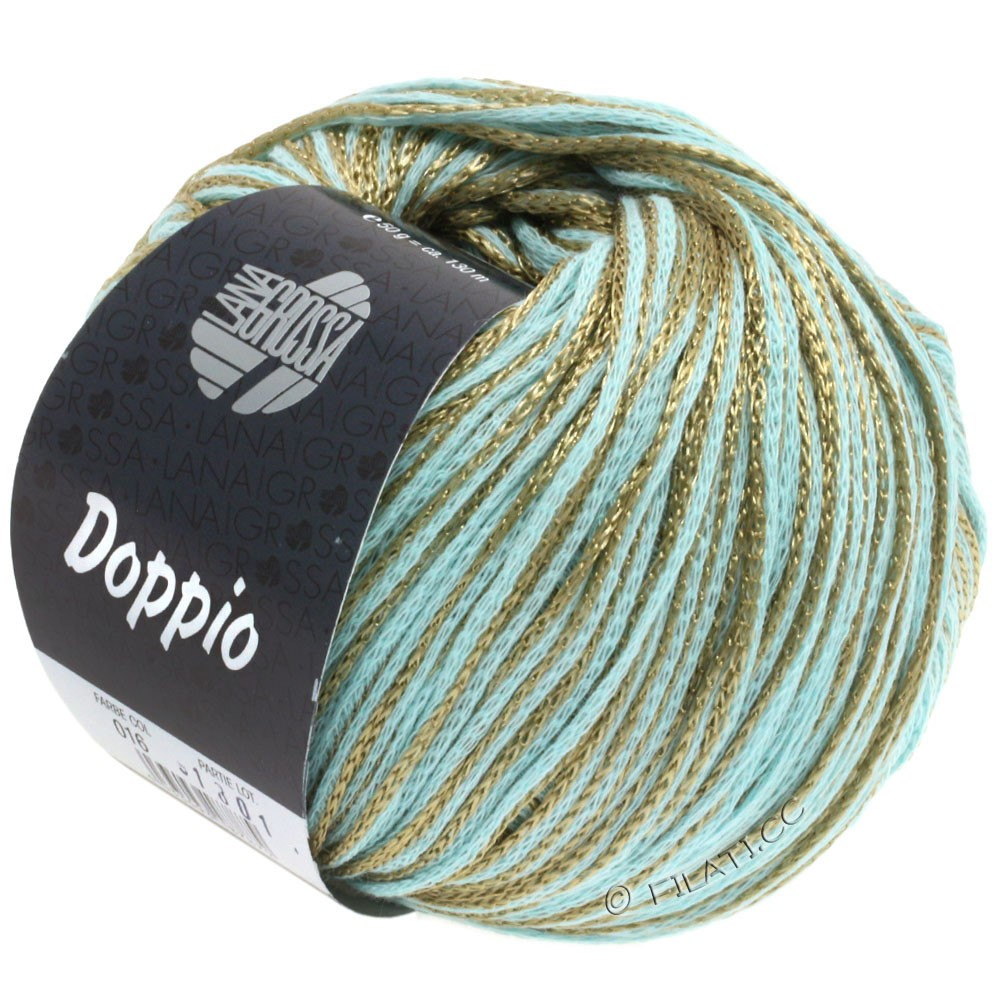 Lana Grossa DOPPIO/DOPPIO Unito | 016-mint/gold