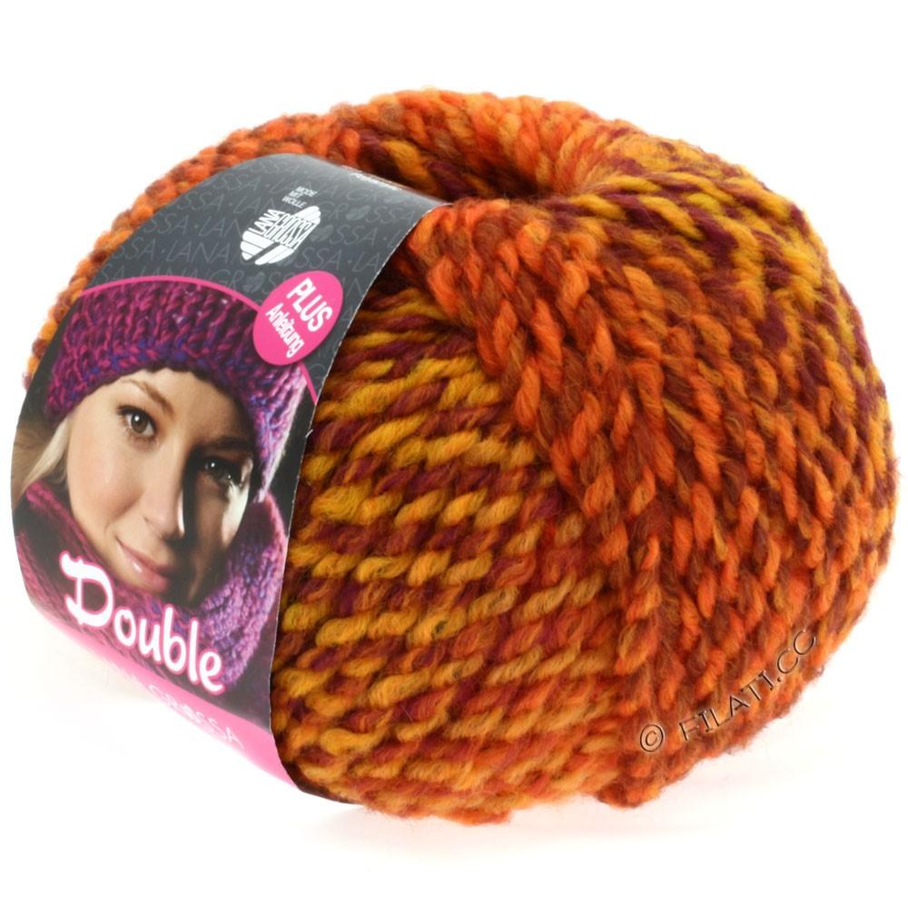 Lana Grossa DOUBLE   06-orange/yellow/bordeaux