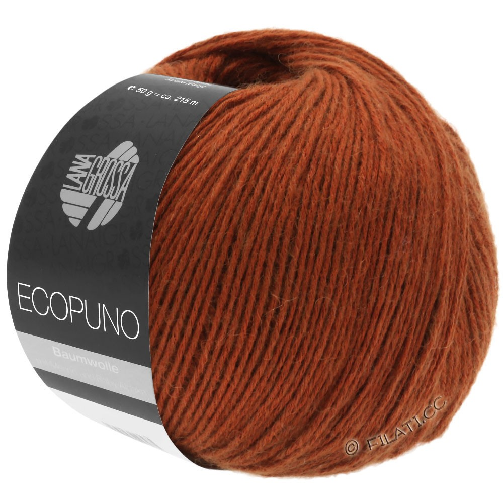Lana Grossa ECOPUNO   25-red brown
