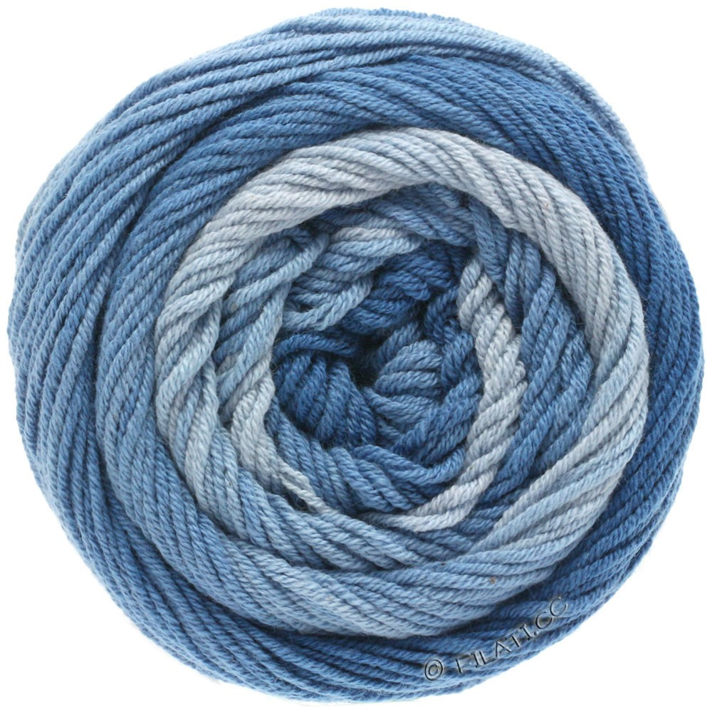Lana Grossa ELASTICO Degradé | 703-light blue/medium blue/dark blue