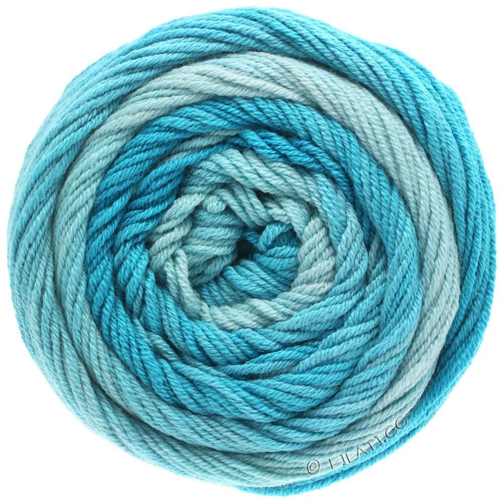 Lana Grossa ELASTICO Degradé | 704-light blue/pastel turquoise/turquoise blue