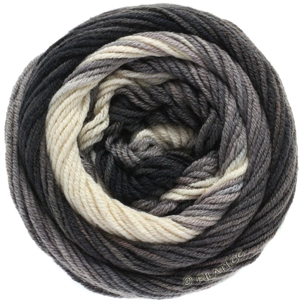 Lana Grossa ELASTICO Degradé | 709-natural/light gray/medium gray/anthracite/black