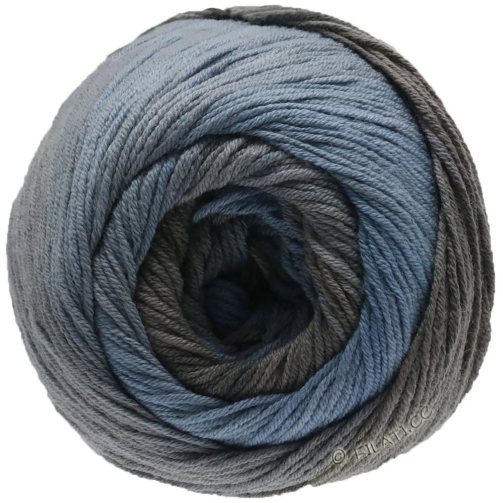 Lana Grossa ELASTICO Degradé | 712-smoke blue/medium gray/gray brown