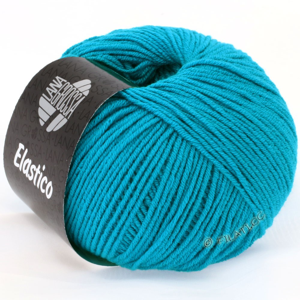 Lana Grossa ELASTICO Uni/Print | 112-turquoise blue